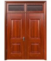 Cửa thép vân gỗ Koffmann 2 cánh đều tại Ninh Bình