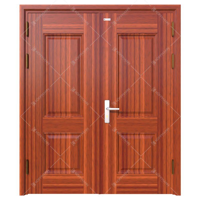 cửa thép vân gỗ Koffmann 2 cánh đều